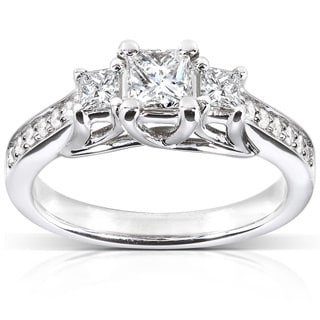 Annello by Kobelli 14k White Gold 5/8ct TDW Diamond Engagement Ring
