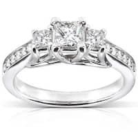 Annello by Kobelli 14k White Gold 5/8ct TDW Diamond Engagement Ring