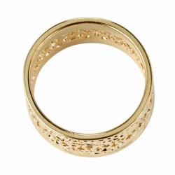 PalmBeach 14k Gold-Plated Tailored Open Weave Decorative Ring - Thumbnail 1