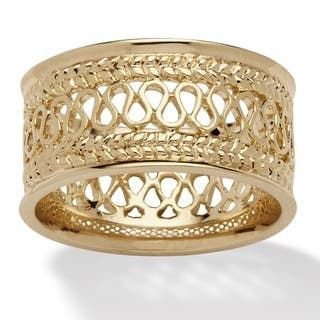 PalmBeach Gold-Plated Tailored Open Weave Decorative Ring|https://ak1.ostkcdn.com/images/products/6189020/P13839957.jpg?impolicy=medium