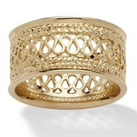Yellow Gold-Plated Open Weave Ring (10.5mm)