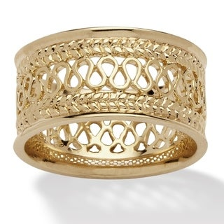 Palmbeach Gold-Plated Tailored Open Weave Decorative Ring (More options available)