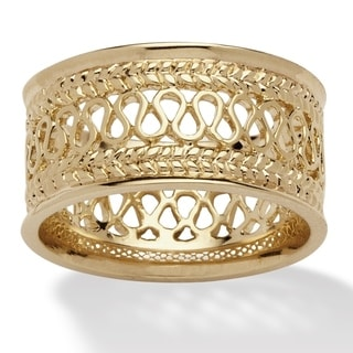 Link to Yellow Gold-Plated Open Weave Ring (10.5mm) Similar Items in Rings