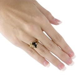 Marquise-Shaped Onyx and Crystal Swirl Ring in 14k Gold-Plated Naturalist - Thumbnail 2