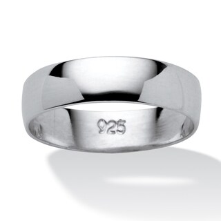 Polished .925 Sterling Silver Tailored Wedding Band
