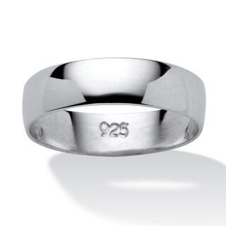 Polished .925 Sterling Silver Tailored Wedding Band (More options available)