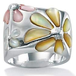 Multicolor Mother-Of-Pearl Sterling Silver Daisy Ring Sizes 7-12 Naturalist|https://ak1.ostkcdn.com/images/products/6189042/77/442/Angelina-DAndrea-Sterling-Silver-Mother-of-Pearl-Daisy-Ring-P13839977.jpg?impolicy=medium