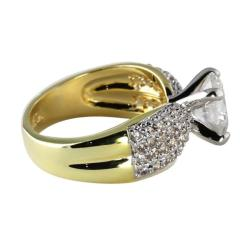 2.62 TCW Round Cubic Zirconia 14k Yellow Gold-Plated Engagement Anniversary Ring Classic C