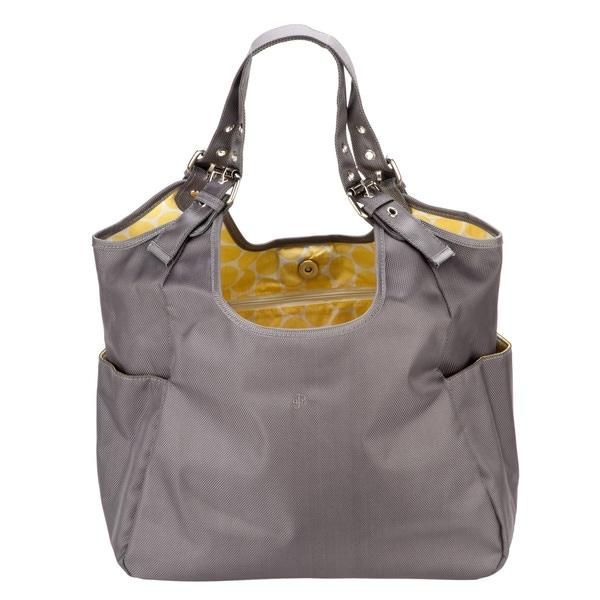 JP Lizzy Slate Citron Satchel
