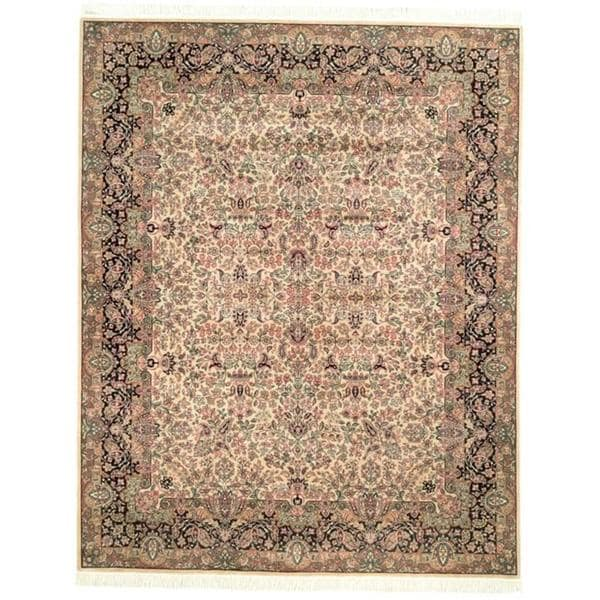 Handmade Safavieh Couture Royal Kerman Ivory/ Green Wool Area Rug - 8' x 10' (China)