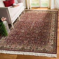 Safavieh Couture Royal Kerman Hand-Knotted Red/ Ivory Wool Area Rug (6' x 9')