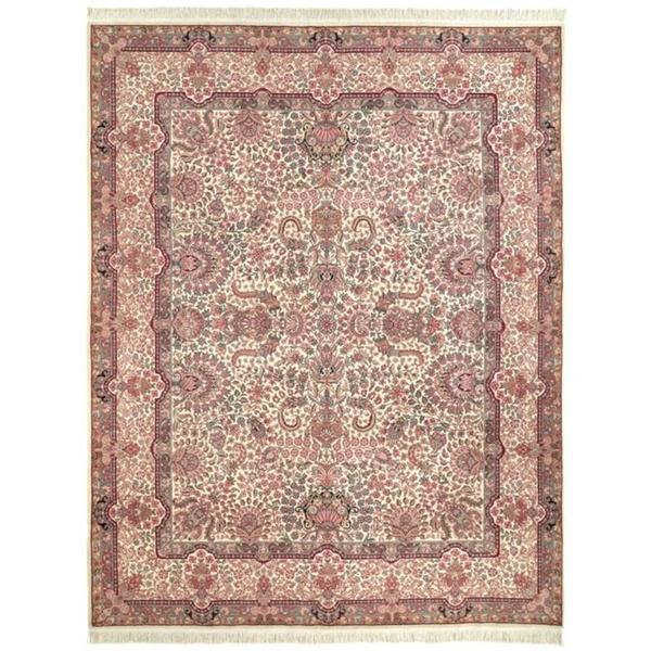 Handmade Safavieh Couture Royal Kerman Ivory/ Multi Wool Area Rug - 8' x 10' (China)