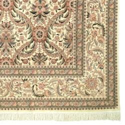 Asian Hand-knotted Royal Kerman Ivory Wool Rug (4' x 6')