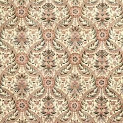Asian Hand-knotted Royal Kerman Ivory Wool Rug (4' x 6') - Thumbnail 2
