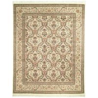 Handmade Safavieh Couture Royal Kerman Ivory Wool Area Rug - 6' x 9' (China)