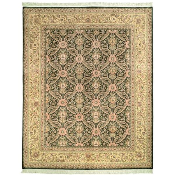 Safavieh Couture Royal Kerman Hand-Knotted Green/ Ivory Wool Area Rug (9' x 12')