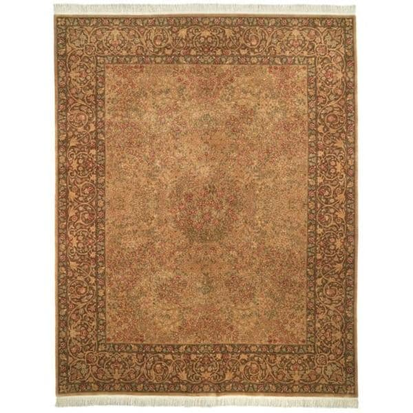 Safavieh Couture Royal Kerman Hand-Knotted Beige/ Brown Wool Area Rug (9' x 12')