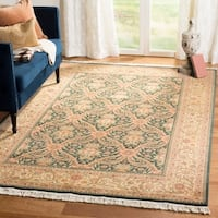 Safavieh Couture Royal Kerman Hand-Knotted Green/ Ivory Wool Area Rug (8' x 10')