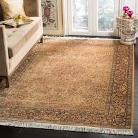 Handmade Safavieh Couture Royal Kerman Beige/ Brown Wool Area Rug - 4' x 6' (China, People's Republic of)