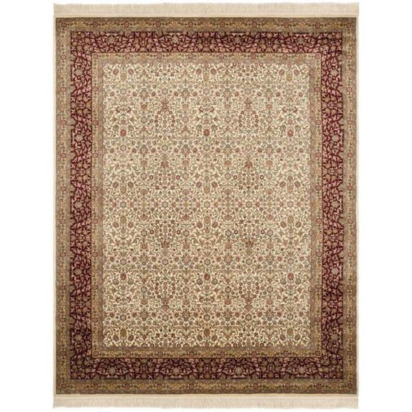 Safavieh Couture Royal Kerman Hand-Knotted Ivory/ Red Wool Area Rug (6' x 9')