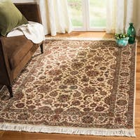 Safavieh Couture Royal Kerman Hand-Knotted Ivory/ Red Wool Area Rug - 9' x 12'