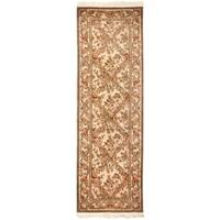 Safavieh Couture Royal Kerman Hand-Knotted Ivory/ Multi Trellis Wool Area Rug - 2'6 x 12'