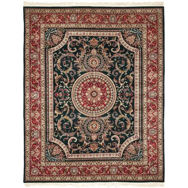 Handmade Safavieh Couture Royal Kerman Green/ Red Wool Area Rug - 9' x 12' (China)
