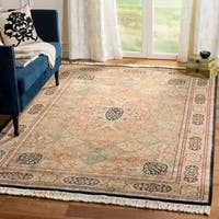 Safavieh Couture Royal Kerman Hand-Knotted Beige/ Multi Wool Area Rug (9' x 12')