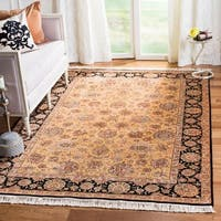 Safavieh Couture Royal Kerman Hand-Knotted Beige/ Black Wool Area Rug - 6' x 9'