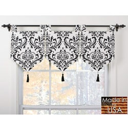 Arbor Ivory/ Black Banner Valances (Set of 3)