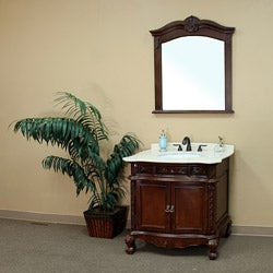 Ashby Single Marble Bathroom Vanity