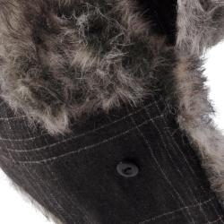 Hailey Jeans Co. Women's Plaid Faux Fur Trim Aviator Cap - Thumbnail 2