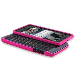 Hot Pink Snap-on Rubber Coated Case for Motorola Droid 3 XT862 - Thumbnail 1