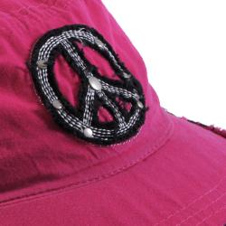 Hailey Jeans Co. Women's Peace Sign Accent Military Cap