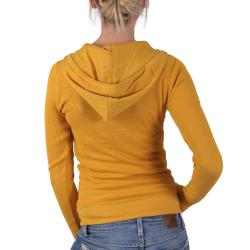 Hailey Jeans Co Junior's Ladies' Lightweight Waffle Thermal Hoodie Top - Thumbnail 1