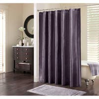 Silver Orchid Haid Purple Polyester Shower Curtain