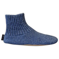 Muk Luks Men's Ragg Wool Slipper Socks with Leather Sole (Option: M)