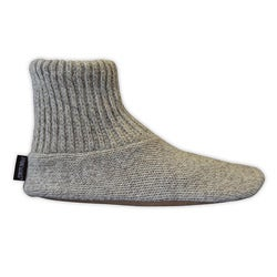 Muk Luks Men's Wool and Leather-soled Hand-washable Ragg Slipper Socks