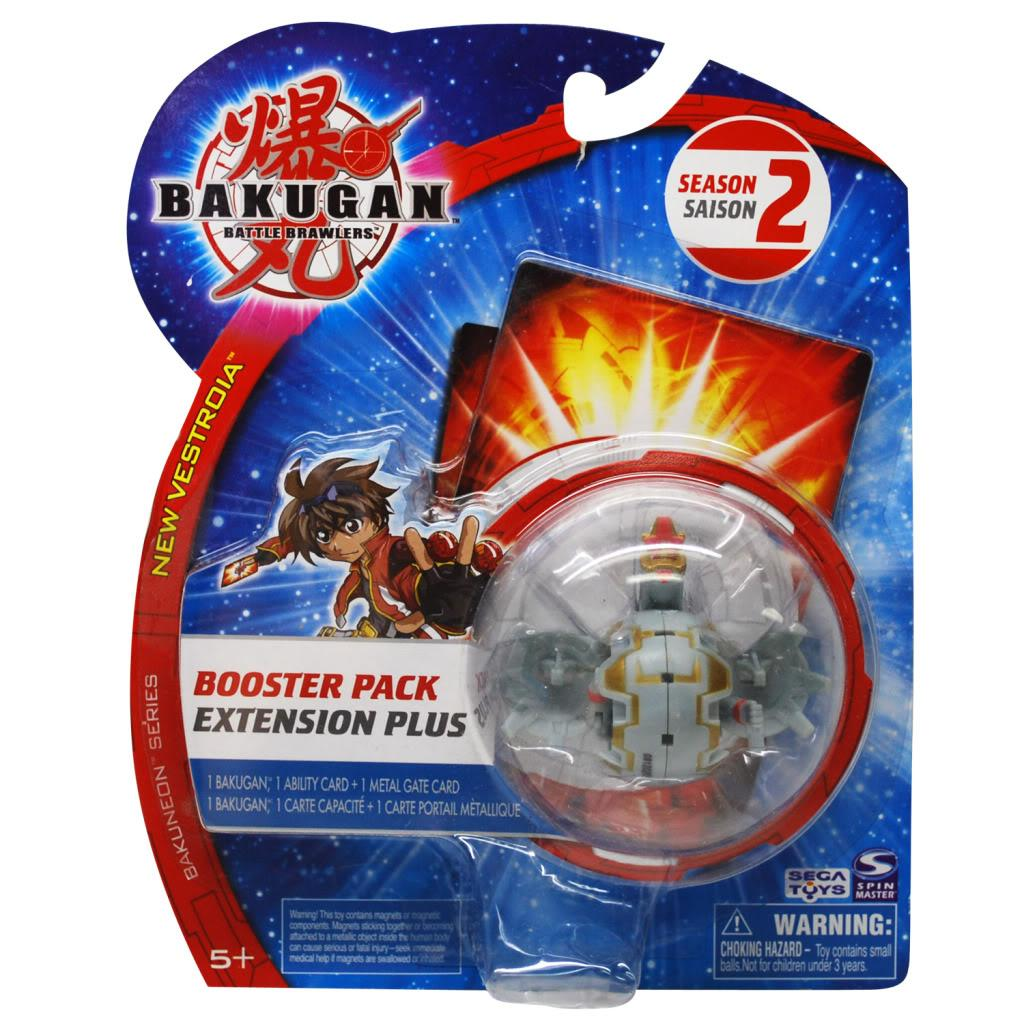 Bakugan Red Mega Brontes Booster Pack Toy with Metal Gate Card