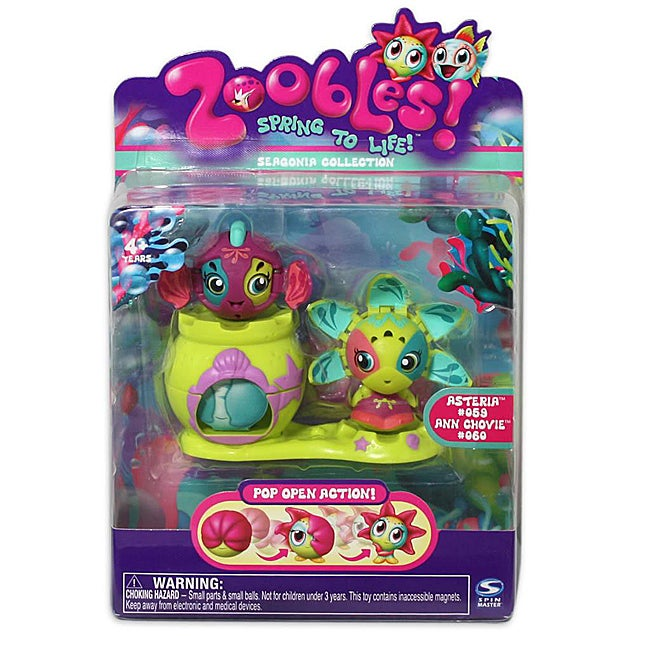 Spinmaster Zoobles Starfish and Fish Happitat Plastic Collectible Toy - Thumbnail 0