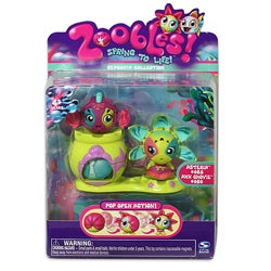 Spinmaster Zoobles Starfish and Fish Happitat Plastic Collectible Toy
