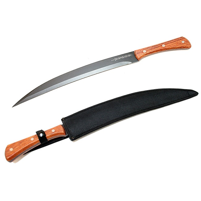Defender 21-inch Full-tang Collectible Black Sword with Sheath