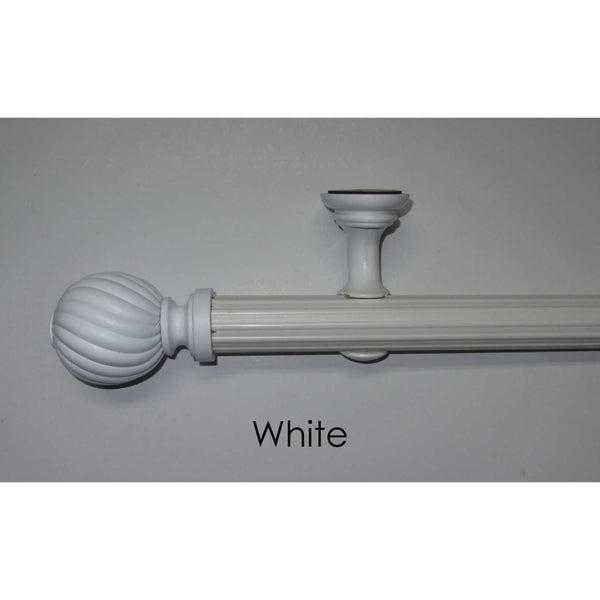 Arlo Blinds White Indoor/Outdoor 8-foot Drapery Pole Set - 96 w inches