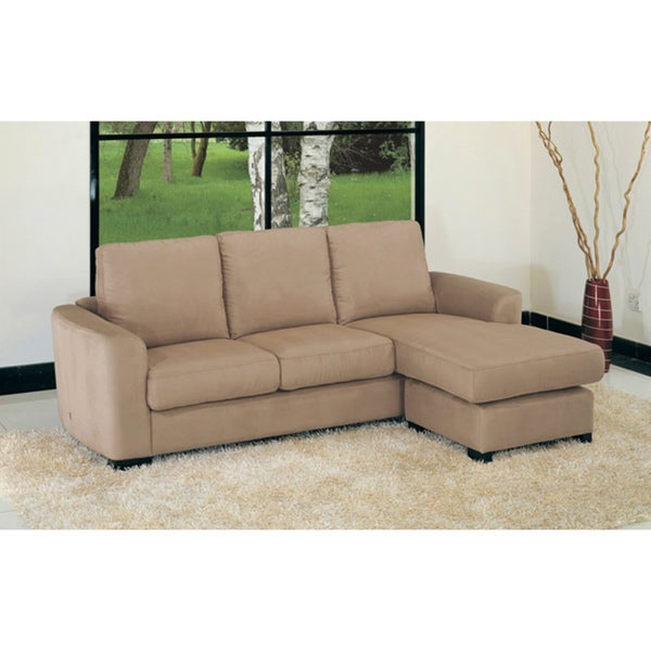 Oxford Mocha Microfiber Sectional Sofa Free Shipping