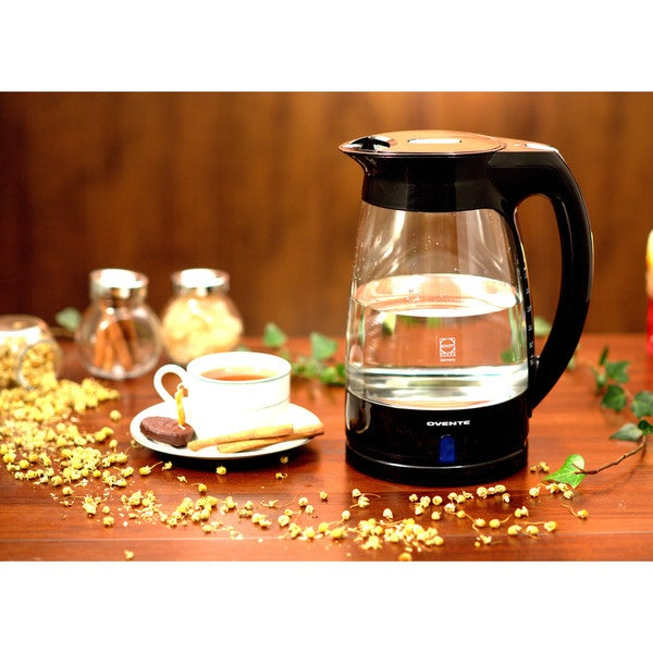 Ovente KG82 Glass 1.7-liter Cord-Free Electric Kettle