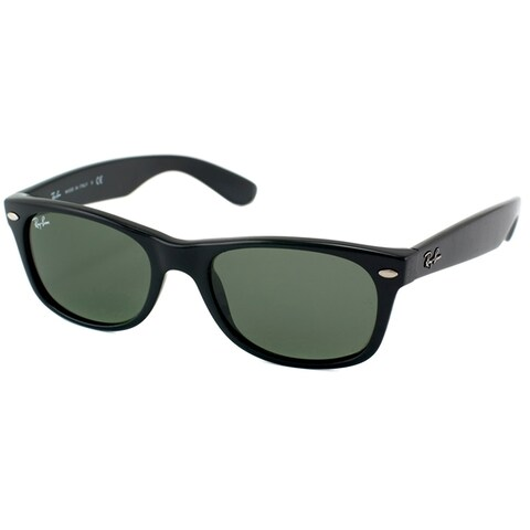 Ray-Ban New Wayfarer Unisex Black Frame Green Lens Sunglasses