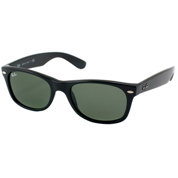6f6587502e Ray-Ban New Wayfarer RB2132 Unisex Black Frame Green Lens Sunglasses
