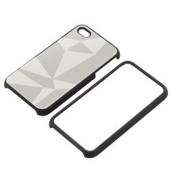INSTEN Silver Triangle Aluminum Phone Case Cover/ Screen Protector for Apple iPhone 4 - Thumbnail 1