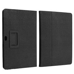 Black Leather Case for Samsung Galaxy Tab P7500 - Thumbnail 1