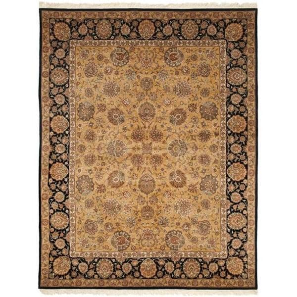 Safavieh Couture Royal Kerman Hand-Knotted Beige/ Black Wool Area Rug - 9' x 12'